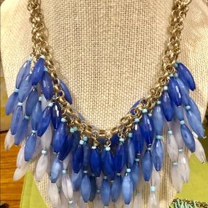 Anthropolgie Blue Cascading Necklace